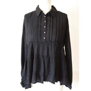 ❤️ NWT! Gilli Black boho long sleeved blouse
